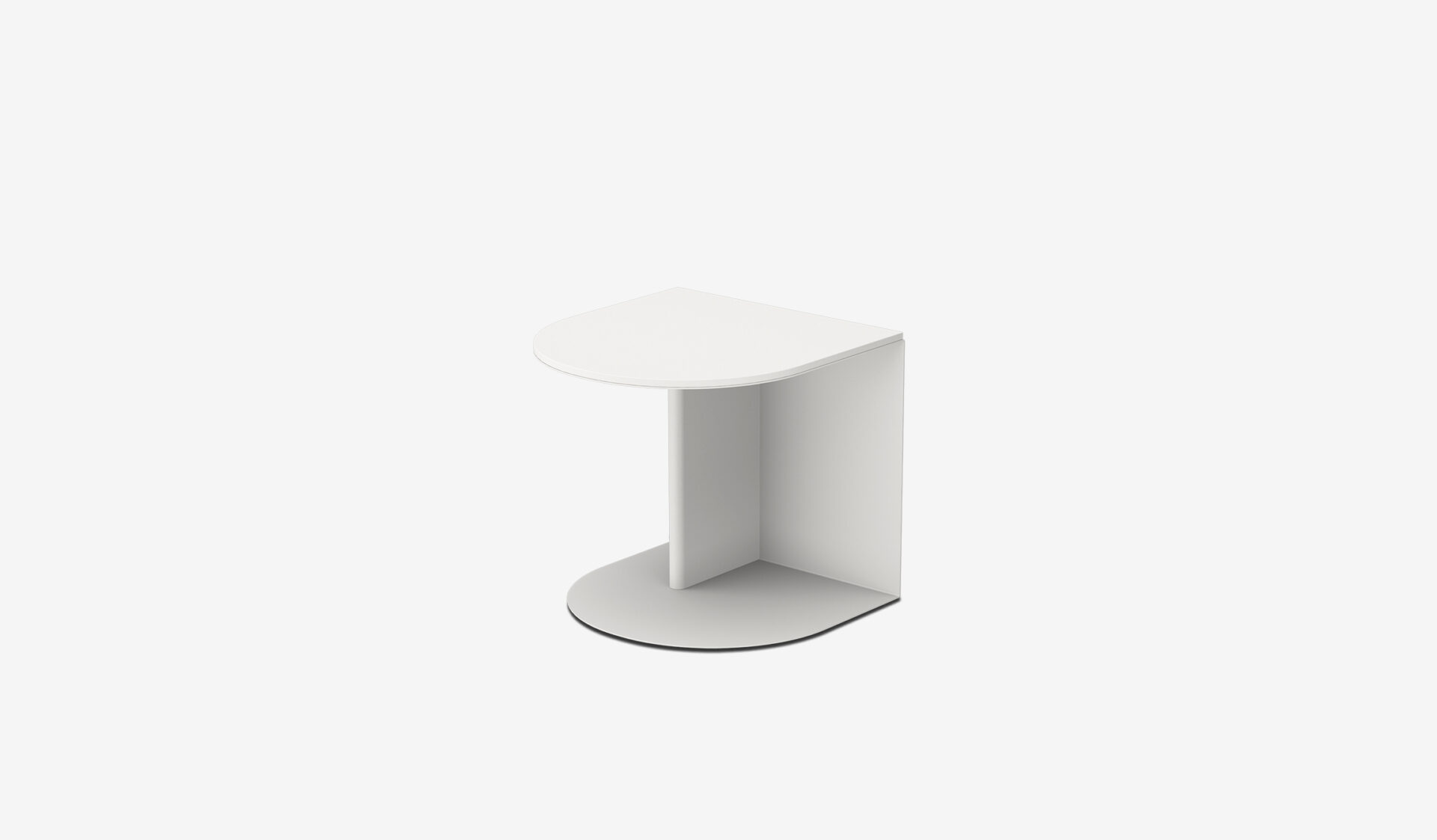 Side table (Low, white)